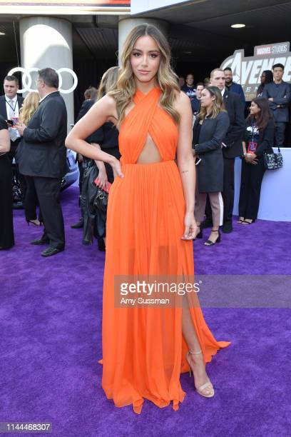 Chloe Bennet arrives for the World premiere of Marvel Studios' 'Avengers Endgame' at Los Angeles Convention Center on April 22 2019 in Los Angeles...