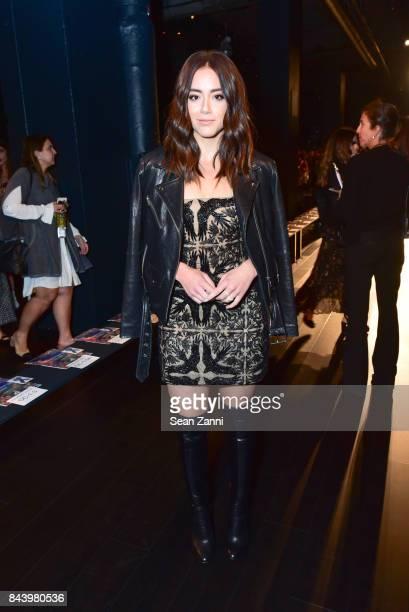 Chloe Bennet attends Tadashi Shoji show at New York Fashion Week at Gallery 1 Skylight Clarkson Sq on September 7 2017 in New York City