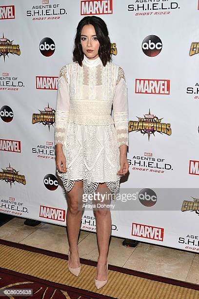 Chloe Bennet attends the premiere of ABC's 'Agents Of SHIELD' Season 4 at Pacific Theatre at The Grove on September 19 2016 in Los Angeles California