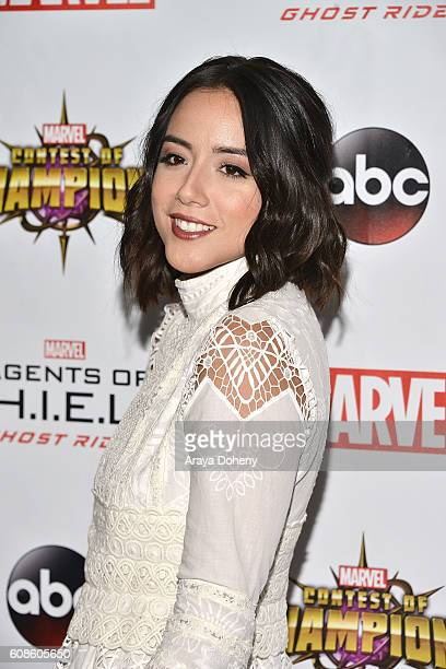 Chloe Bennet attends the premiere of ABC's Agents Of SHIELD Season 4 at Pacific Theatre at The Grove on September 19 2016 in Los Angeles California