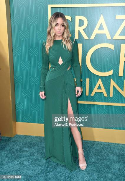 """Chloe Bennet attends the premiere of Warner Bros. Pictures' """"Crazy Rich Asiaans"""" at TCL Chinese Theatre IMAX on August 7, 2018 in Hollywood,..."""