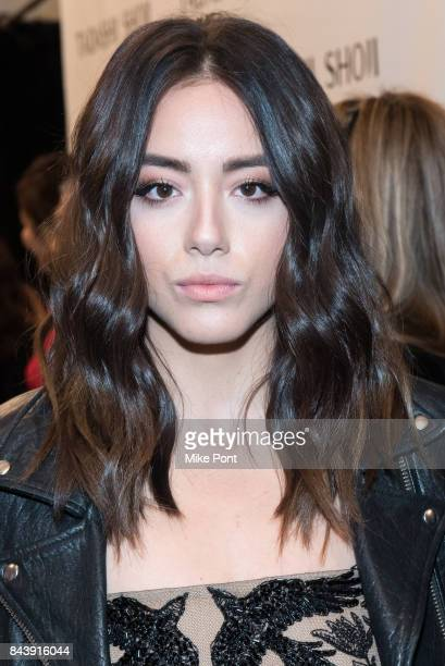 Chloe Bennet attends the Tadashi Shoji fashion show during New York Fashion Week The Shows at Gallery 1 Skylight Clarkson Sq on September 7 2017 in...