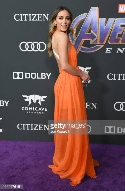 Chloe Bennet attends the World Premiere Of Walt Disney Studios Motion Pictures Avengers Endgame at Los Angeles Convention Center on April 22 2019 in...