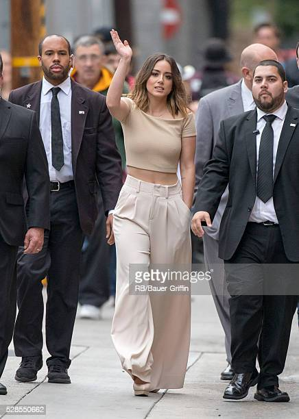 Chloe Bennet is seen at 'Jimmy Kimmel Live' on May 05 2016 in Los Angeles California
