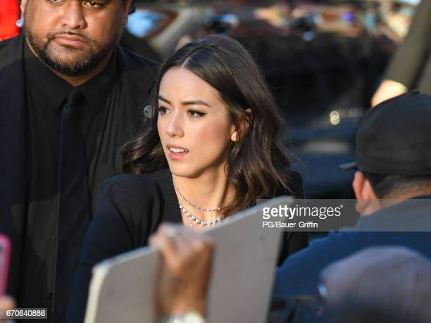 Chloe Bennet is seen at the premiere of 'Guardians of the Galaxy Vol 2' at Dolby Theatre on April 19 2017 in Los Angeles California