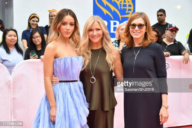 Chloe Bennet Jill Culton and Margie Cohn attend the Abominable premiere during the 2019 Toronto International Film Festival at Roy Thomson Hall on...