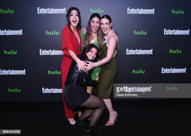 Chloe Bennet MingNa Wen Natalia CordovaBuckley and Elizabeth Henstridge attend Hulu's New York Comic Con After Party at The Lobster Club on October 6...