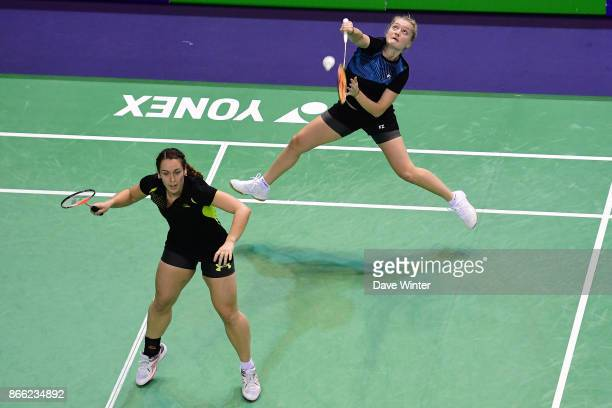 Chloe Birch and Jessica Pugh during the Yonex Badminton French Open at Stade Pierre de Coubertin on October 25 2017 in Paris France