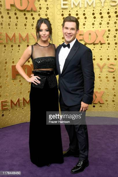 Chloe Bridges and Adam DeVine attend the 71st Emmy Awards at Microsoft Theater on September 22 2019 in Los Angeles California