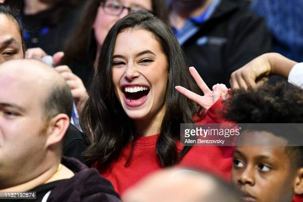 Chloe Bridges attends a basketball game between the Los Angeles Clippers and the Dallas Mavericks at Staples Center on February 25 2019 in Los...