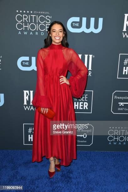 Chloe Bridges attends the 25th Annual Critics' Choice Awards at Barker Hangar on January 12, 2020 in Santa Monica, California.