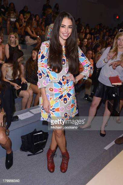 Chloe Bridges attends the Mara Hoffman fashion show during MercedesBenz Fashion Week Spring 2014 at The Stage at Lincoln Center on September 7 2013...