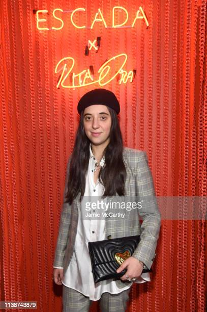 Chloe Caillet attends the launch of the ESCADA Heartbag by Rita Ora on March 27 2019 in New York City