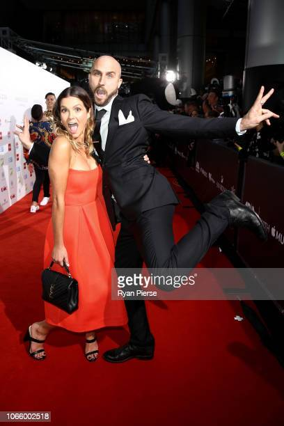 Chloe Chapman and Paul Fisher arrives for the 32nd Annual ARIA Awards 2018 at The Star on November 28 2018 in Sydney Australia