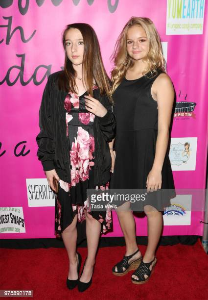 Chloe Clark and Paige Stinson attend Jillian Estell's red carpet birthday party with a purpose benefitting The Celiac Disease Foundation on June 15...