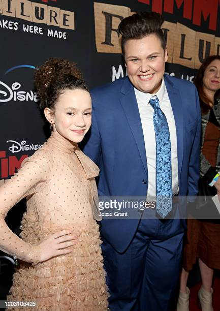 "Chloe Coleman and Caitlin Weierhauser attend the premiere of Disney's ""Timmy Failure: Mistakes Were Made"" at Hollywood's El Capitan Theater on..."