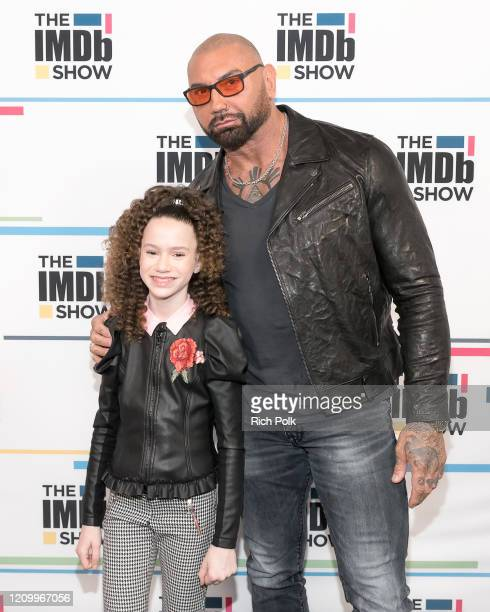 Chloe Coleman and Dave Bautista visit 'The IMDb Show' on February 21 2020 in Santa Monica California This episode of 'The IMDb Show' airs on March 5...