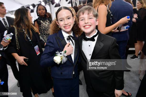 Chloe Coleman and Iain Armitage attend the 26th Annual Screen ActorsGuild Awards at The Shrine Auditorium on January 19 2020 in Los Angeles...