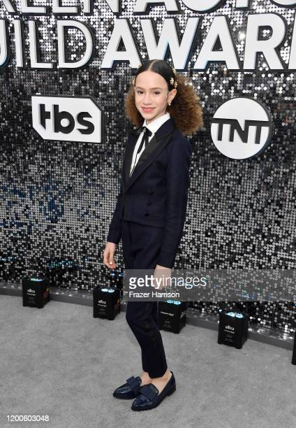Chloe Coleman attends the 26th Annual Screen ActorsGuild Awards at The Shrine Auditorium on January 19 2020 in Los Angeles California