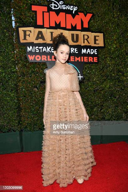 Chloe Coleman attends the premiere of Disney's Timmy Failure Mistakes Were Made at El Capitan Theatre on January 30 2020 in Los Angeles California