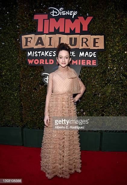 Chloe Coleman attends the premiere of Disney's Timmy Failure Mistakes Were Made at Hollywood's El Capitan Theater on January 30 2020 Timmy Failure...