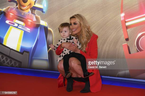 """Chloe Crowhurst attends the gala screening of """"Paw Patrol"""" at Cineworld Leicester Square on January 19, 2020 in London, England."""