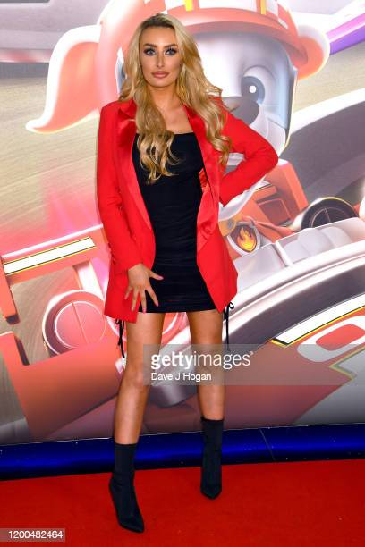 """Chloe Crowhurst attends the """"Paw Patrol"""" gala screening at Cineworld Leicester Square on January 19, 2020 in London, England."""