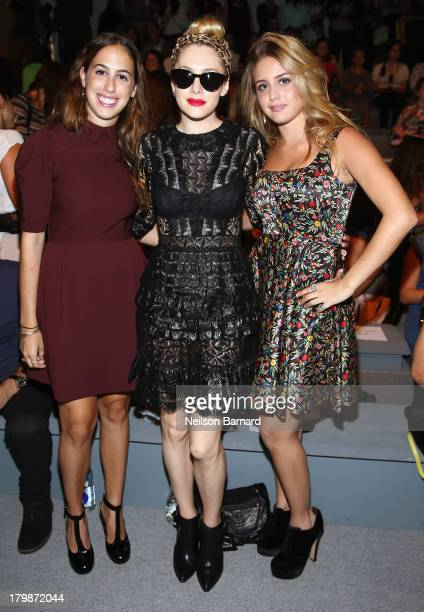 Chloe Curtis Casey LaBow and Sophie Curtis attend the Jill Stuart Spring 2014 fashion show during MercedesBenz Fashion Week at The Stage at Lincoln...