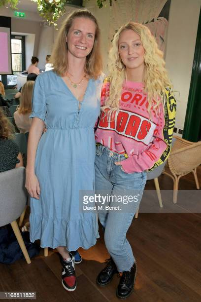 Chloe Delevingne and Georgia Hirst attend a live recording of Mika Simmons' new podcast The Happy Vagina at The AllBright Mayfair on September 17...
