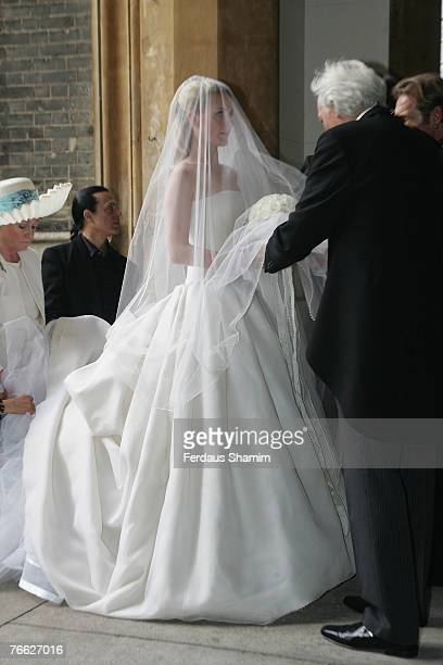 Chloe Delevingne arrives for her wedding with Louis Buckworth on September 7 2007 in London England