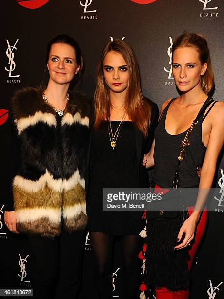 Chloe Delevingne, Cara Delevingne and Poppy Delevingne attend the YSL Beaute Makeup Celebration 'YSL Loves Your Lips' in the presence of Cara...