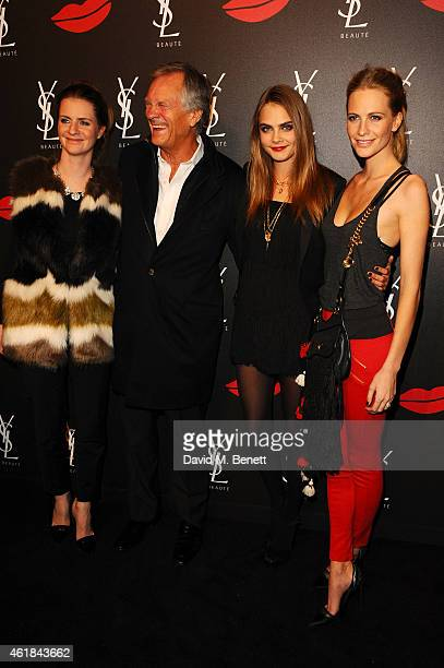 Chloe Delevingne, Charles Delevingne, Cara Delevingne and Poppy Delevingne attend the YSL Beaute Makeup Celebration 'YSL Loves Your Lips' in the...