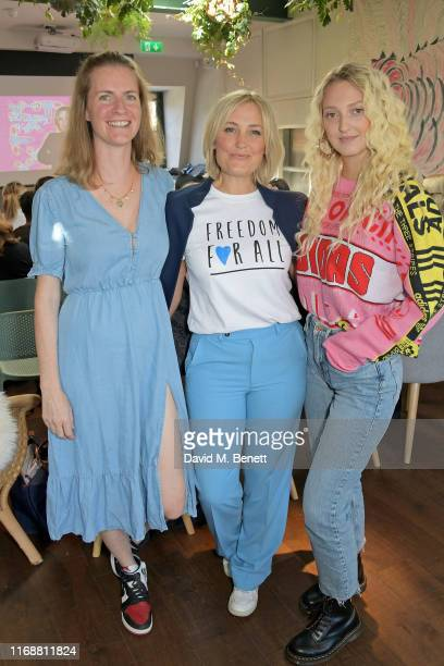Chloe Delevingne Mika Simmons and Georgia Hirst attend a live recording of Mika Simmons' new podcast The Happy Vagina at The AllBright Mayfair on...