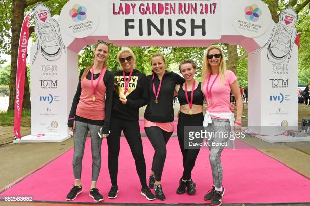 Chloe Delevingne Natalie Rushdie Astrid Harbord Daisy Lewis and Jenny Halpern Prince attend the Lady Garden 5K 10K Run in aid of Silent No More...