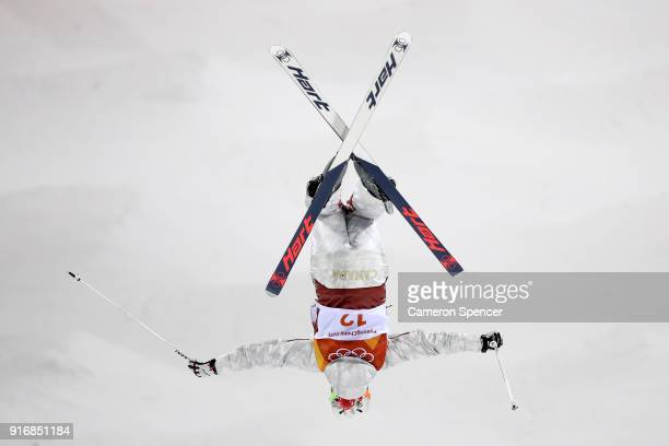 Chloe Dufour-Lapointe of Canada competes during the Freestyle Skiing Ladies' Moguls Qualification on day two of the PyeongChang 2018 Winter Olympic...