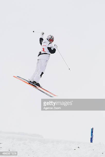 Chloe DufourLapointe of Canada takes 3rd place during the FIS Freestyle Skiing Dual Moguls on March 15 2015 in Megeve France