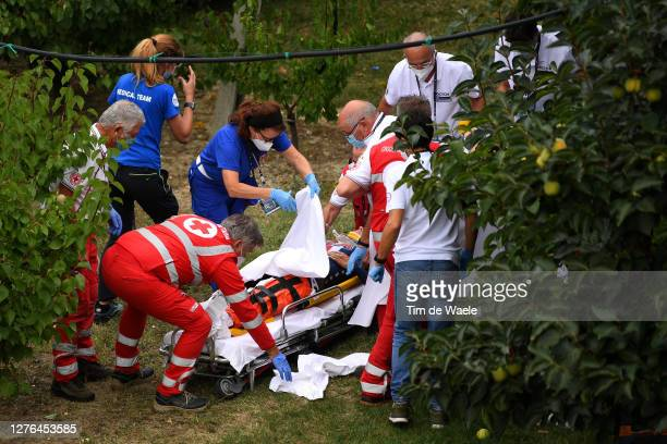 Chloe Dygert of The United States / Crash / Injury / Accident / Doctors / Red cross / during the 93rd UCI Road World Championships 2020, Women Elite...