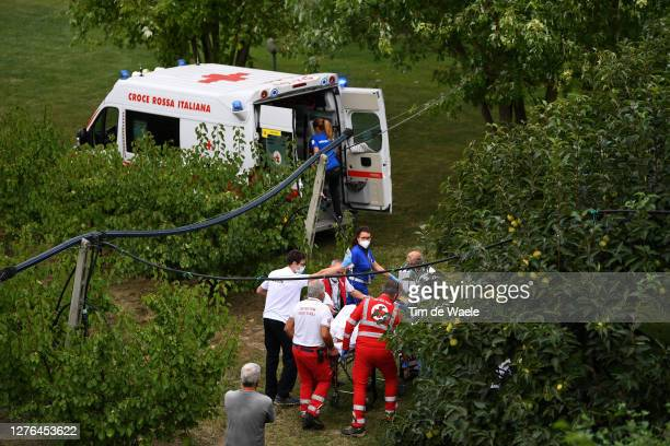 Chloe Dygert of The United States / Crash / Injury / Accident / Doctors / Red cross / Ambulance / during the 93rd UCI Road World Championships 2020,...
