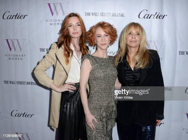 Chloe Dykstra, Kathy Griffin and Rosanna Arquette attend Visionary Women's International Women's Day Honoring Patricia and Rosanna Arquette at Spago...