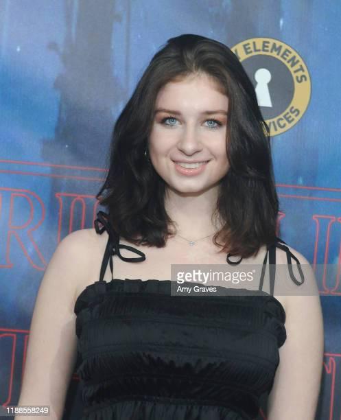 Chloe Elise attends Tarik Ellinger's 16th Birthday Party In The Upside Down at Starwest Studios on December 13 2019 in Burbank California