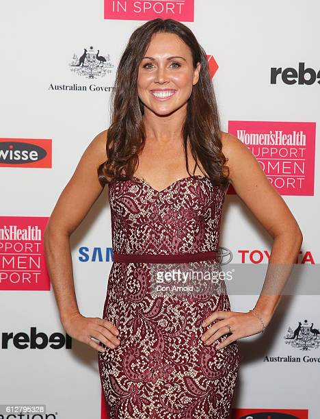 Chloe Esposito arrives ahead of the Women's Health I Support Women In Sport Awards at Carriageworks on October 5 2016 in Sydney Australia