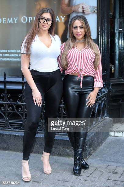 Chloe Ferry and Sophie Kasaei attend the Geordie Shore Radge Academy open day in Soho on March 16 2017 in London United Kingdom