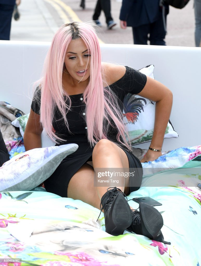 Chloe Ferry attends the Geordie Shore series 15 'Shag Pad on Tour ' cast launch at Tower Bridge on August 16, 2017 in London, England.