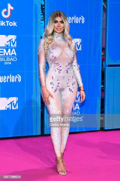 Chloe Ferry attends the MTV EMAs 2018 at Bilbao Exhibition Centre on November 4 2018 in Bilbao Spain
