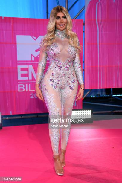 Chloe Ferry attends the MTV EMAs 2018 on November 4 2018 in Bilbao Spain