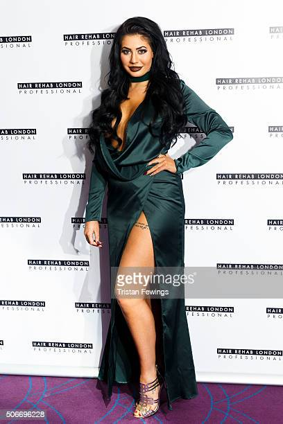 Chloe Ferry launch SS Collection by Hair Rehab on January 25 2016 in London England