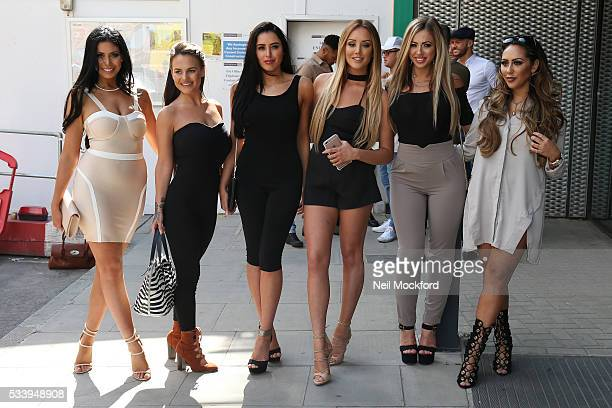 Chloe Ferry Marnie Simpson Charlotte Crosby and Holly Hagan at MTV HQ in Camden to celebrate the Geordie Shore 5th Birthday Party on May 24 2016 in...