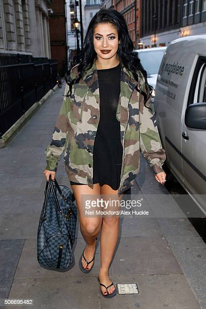 Chloe Ferry seen leaving the Sanctum Soho Hotel after a Hair Rehab Press Day on January 25 2016 in London England