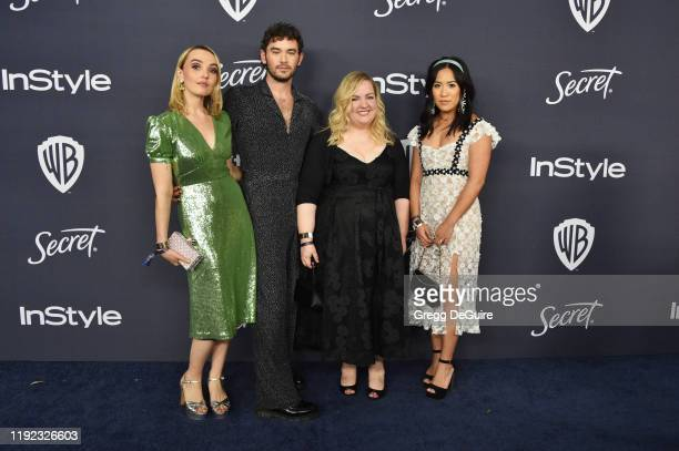 Chloe Fineman Casey Thomas Brown Sarah Baker and Melissa Tang attend the 21st Annual Warner Bros And InStyle Golden Globe After Party at The Beverly...