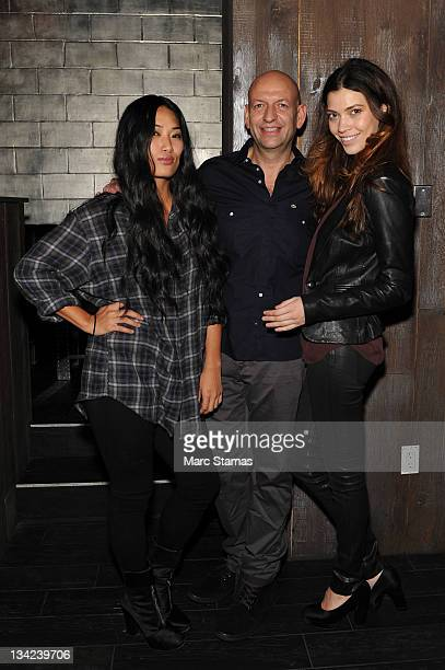 Chloe Flower David Rosenberg and Tina Marie Clark attend the Scouted Premiere Party at the Electric Room at Dream Downtown on November 28 2011 in New...